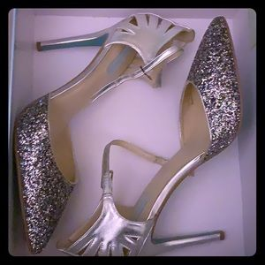 Size 12 - Betsey Johnson Glitter Pumps